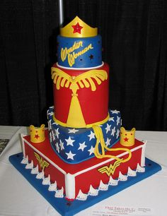 Compare 11366 wonder woman products at SHOP.COM, including Smart Watch - Wonder Woman, Dc Wonder Woman Slow Cooker, Dc Wonder Woman Waffle Maker Pretty Cakes, Cute Cakes, Beautiful Cakes, Amazing Cakes, Wonder Woman Cake, Wonder Woman Party, Cake Show, Superhero Cake, Take The Cake
