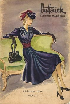 Instant Digital Download Butterick Fall 1939 Pattern Book Ebook Catalog Magazine