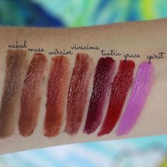 Adore these lipstick swatches from @thegreenjunglebeautyshop