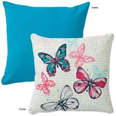 These Pillows can sooooo be in Violetta's Bedroom Purple Wall Paint, Purple Walls, Painted Canvas Bags, Butterfly Cushion, Cushions To Make, Colourful Cushions, Flower Pillow, Embroidery Art, Fabric Painting