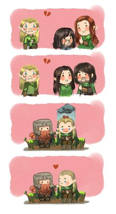 Poor Legolas needed Gimli's love the whole time Hobbit Art, O Hobbit, Legolas And Thranduil, Tauriel, Tolkien Books, Jrr Tolkien, Bagginshield, Middle Earth, Lord Of The Rings