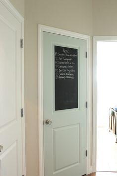 Black Mudroom Door - The Wood Grain Cottage