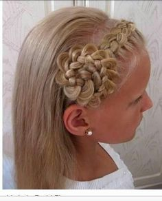 Cool braid for kids...I have done this on my daughter's hair...completely different grade of hair and it turned out cute!!