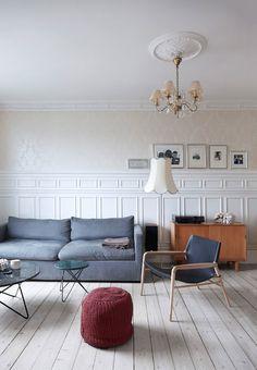 Jeanette Hiiri et designer Dennis Marquart. Classique scandinave. Stylist: Pernille Vest - Photo Birgitta Drejer