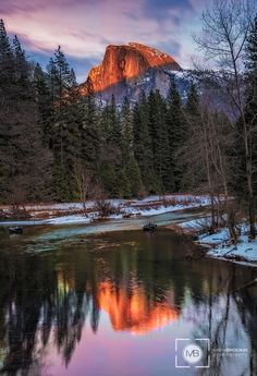 Alpenglow on Half Dome, Yosemite NP, CA, United States
