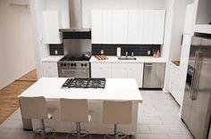 Great Futuristic Kitchen Interior and Kitchen Island with Stove Design Idea