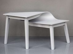 The Distorted Tables by Suzy Lelievre are Awe-Inspiring #warped #furniture trendhunter.com