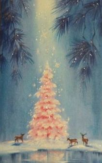 A vintage illustration of a Christmas tree, that demonstrates the sacred meaning of pine trees to Northern Europeans. www.mythologymagazine.com