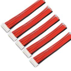 5PCS 6S 7Pin 2.54XH 30cm Lipo Battery Charger Silicone Wire Balance Extension Cable