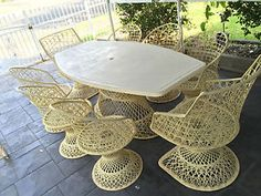 Eames Retro Outdoor Setting Russell Woodard Design in NSW | eBay $650