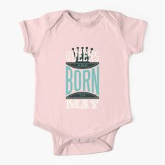 """Queens Are Born in May Cute Funny Birthday Saying"" Baby One-Piece by funnylifeusa 