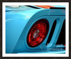 Ford Gt-40 Tail Light Framed Print By Dean Ferreira