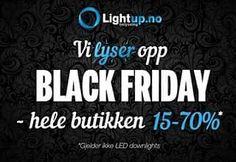 Vi er godt i gang med Black Friday! Ta turen innom å se på våre gode tilbud! #lightupno#interior#belysning