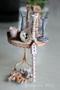 Miniature shabby decoration By Elämää Koossa