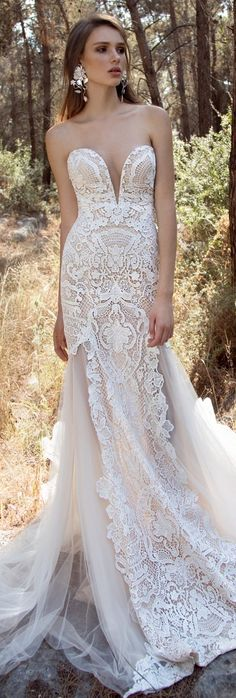 Fantastic Gala by Galia Lahav Wedding Dresses 2018 ★ gala galia lahav wedding dresses 2018 strapless deep sweetheart neckline lace with train 2016 Wedding Dresses, Wedding Attire, Bridal Dresses, Wedding Gowns, Luxury Wedding, Boho Wedding, Sophisticated Bride, Gorgeous Wedding Dress, Boho Bride