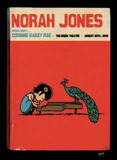 I don't know why, but this just made my day. Peanuts inspired Norah poster by Matt Leunig