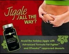 Fat fighters from It Works absorbs 70% of the carbs and 33% of the fat from your biggest meal! So load up on these this holiday season so you don't gain last you did last year!! http:// aptil_medlock.myitworks.com