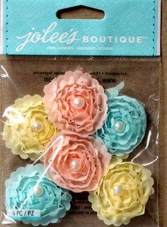 EK Success Jolee's Boutique Pastel Mix Small Florals Dimensional Scrapbook Stickers are available at Scrapbookfare.com.