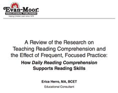 action research papers on reading comprehension