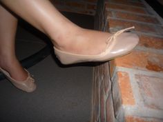 On the wall Pink Ballet Shoes, Ballet Flats, Peep Toe, Heels, Wall, Fashion, Pink Ballet Flats, Heel, Moda