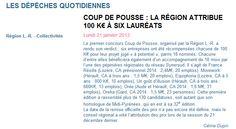 La lettre M - Le coup de Pousse de la région pour Equiphoria et France Résille - 2013