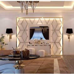 10 Creative Ideas for Dining Room Walls Luxury Bedroom Design, Bedroom Bed Design, Home Room Design, Home Decor Bedroom, Home Living Room, Interior Design Living Room, Tv Wall Design, Küchen Design, Design Case