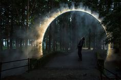 A Sculptural Arch Of Mist Has Been Installed In Japan - James Tapscott
