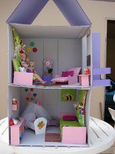 Cantinho da Cati: Casinhas de Bonecas!!!(td de papelão)
