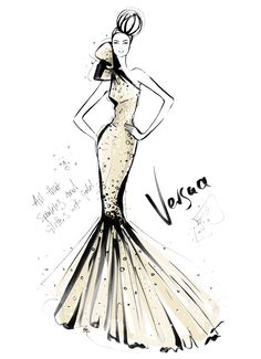 Fashion illustration by Megan Hess