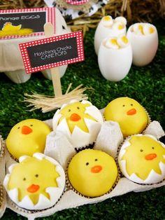 Chick cake balls