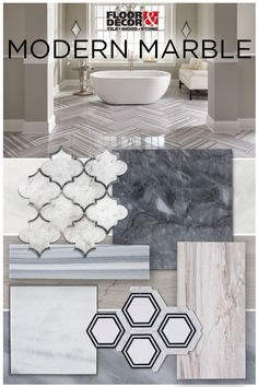 Take advantage of trending shapes and sizes of marble...