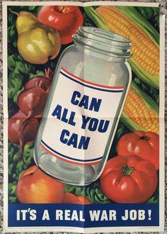 Original WW2 Poster WWII 1943 US Homefront War Propaganda Food Rationing Farming