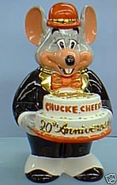 Chuck E. Cheese 20th Anniversary Limited Edition of 1997 Cookie Jar