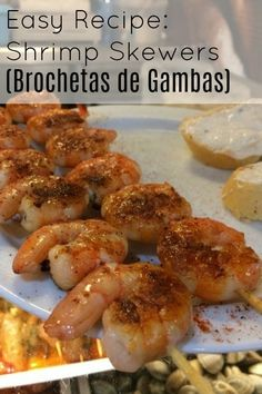 Easy Shrimp Skewer Recipe! (Brochetas de Gambas)
