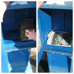 """Extremely clever way to make an ammo can """"disappear"""".  Realty magazine dispenser with opening to hollow base."""