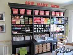 Seriously SPEECHLESS. If you enjoy organization and/or sewing and or crafting... check out this AMAZING craft room!!