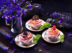 Cupcake in studio.