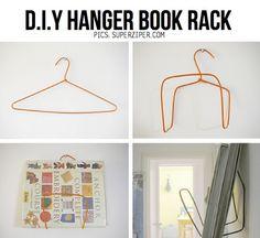 DIY hanger bookshelf...