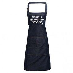 Fun Denim Cooking / BBQ Bib Apron, My Wife Dresses to Kill, and Cooks the same way, Unisex Bib Apron, Aprons, My Wife, Dressed To Kill, Bbq, Unisex, Denim, Cooking, Cotton