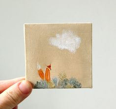 Love this mini painting.  The Meadow by ohchalet on Etsy.