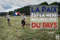 La paix est la mère nourricière du pays Hésiode #citation #scout #photo