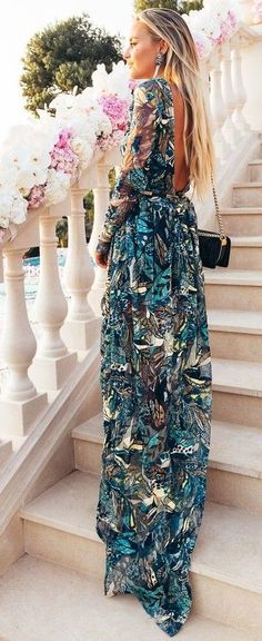 Printed Maxi Dress for special occasions, or to cool off while shopping on the warm days we have left.