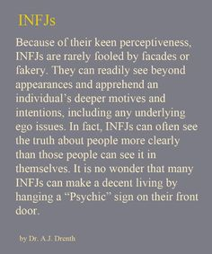 Yes, very true about INFJ's