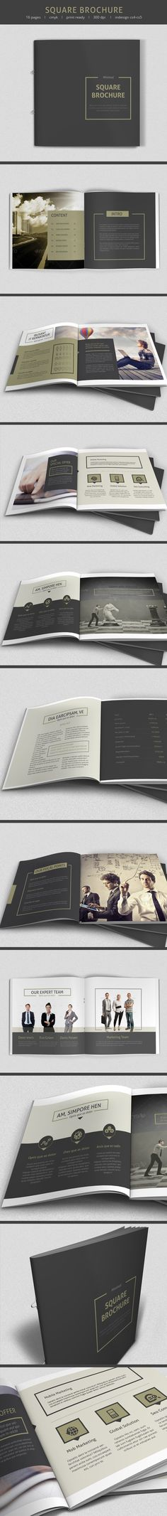 Minimal square Brochure by sz 81, via Behance