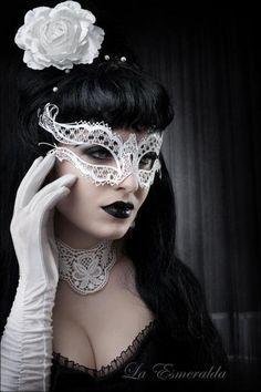 adams Family mask! Wednesday wedding :-)