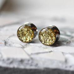 Oro brillo tapones para los oídos tapones de oro por FashionPlugs, $22.00