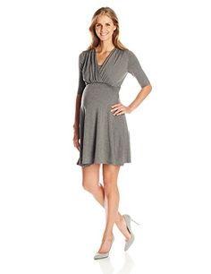 Maternal America Womens Maternity Mini Front Tie Nursing Dress Heather Charcoal MEDIUM >>> Check this awesome product by going to the link at the image. (This is an affiliate link and I receive a commission for the sales) Nursing Wear, Nursing Dress, Maternity Dresses, Charcoal, Image Link, Dresses For Work, Note, America, Amazon