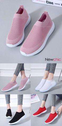new arrival 795ad 44729  US  19.99 Plus Size Women Walking Breathable Air Mesh Knit Slip On Trainers
