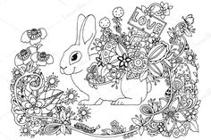 Doodle Rabbit With Love A Pointer @creativework247