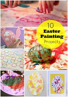 10 Easter painting projects for kids. Great school holiday boredom busters.